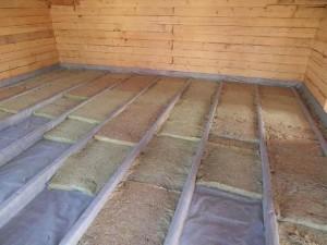 Как утеплить пол в деревянном доме. Двойная 72